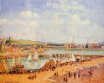 the port of dieppe the dunquesne and berrigny basins high tide sunny afternoon by camille pissarro painting