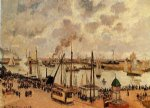 the port of le havre ii by camille pissarro painting
