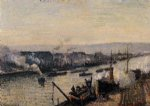 the port of rouen saint by camille pissarro painting