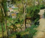 the rising path pontoise by camille pissarro painting