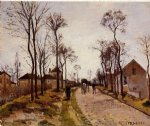 the road to caint by camille pissarro painting