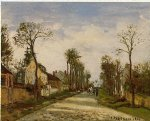 the road to versailles at louveciennes ii by camille pissarro painting