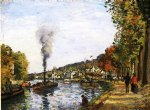 the seine at marly by camille pissarro painting