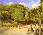 town garden in pontoise by camille pissarro painting