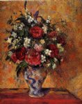 vase of flowers by camille pissarro painting