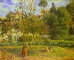 vegetable garden at l hermitage near pontoise by camille pissarro painting-36536
