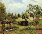 view across stamford brook common by camille pissarro painting