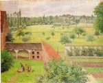view from my window eragny by camille pissarro painting