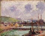 view of duquesne and berrigny basins in dieppe by camille pissarro painting-36543