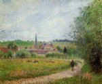 view of eragny iii by camille pissarro painting-36545