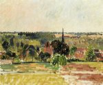 view of eragny by camille pissarro painting