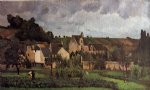 camille pissarro view of l heritage at pontoise paintings-36547