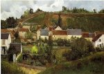 camille pissarro view of l hermitage jallais hills pontoise paintings-36548