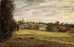 view of marly by camille pissarro painting