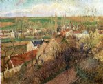 view of osny near pontoise by camille pissarro painting