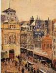 view of paris rue d amsterdam by camille pissarro painting