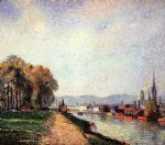 view of rouen by camille pissarro painting