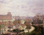camille pissarro view of the tulleries morning paintings-36557