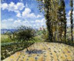 view toward the pontoise prison by camille pissarro painting