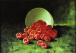 carducius plantagenet ream still life overturned cup on raspberries painting