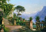 carl fredrik aagard lodge on lake como 2 painting
