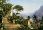 carl fredrik aagard lodge on lake como painting