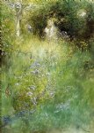 carl larsson a fairy kersti and a view of a meadow painting-36243