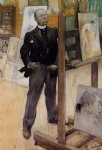 portrait paintings - self portrait by carl larsson