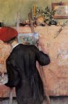 the still life painter by carl larsson painting