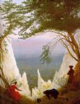chalk cliffs on rugen by caspar david friedrich painting