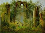eldena ruin by caspar david friedrich painting