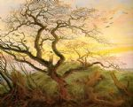 the tree of crows by caspar david friedrich painting