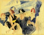 beach oil paintings - figures o beach by charles demuth