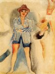 mann in blazer by charles demuth paintings-36219