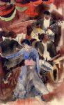 negro girl dancer by charles demuth paintings-36221