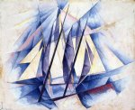 sail in two movements by charles demuth painting