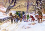 holdup on the boston road by charles marion russell painting