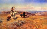 charles marion russell horse of the hunter paintings
