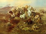 charles marion russell indian fight 1 painting