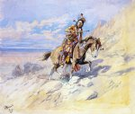 charles marion russell indian on horseback painting
