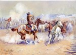 horse paintings - navajo wild horse hunters by charles marion russell