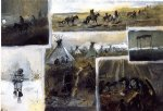 charles marion russell western montage painting-36189