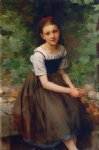 charles victor thirion young girl with flowers painting 36031