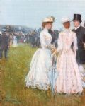 at the grand prix in paris by childe hassam painting