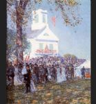 county fair new england by childe hassam painting