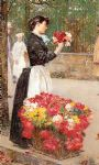 childe hassam flower girl painting 78956