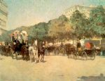 grand prix day by childe hassam painting