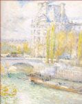 le louvre et le pont royal by childe hassam paintings