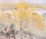 pont royal paris by childe hassam paintings