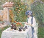 the terre cuite tea set by childe hassam painting